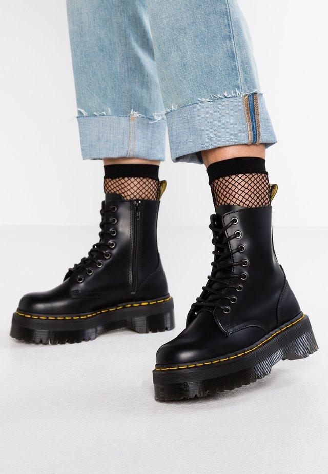 JADON ZIP - Platform ankle boots - black