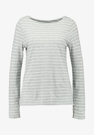 BOATNECK SLUB - Long sleeved top - grey/offwhite