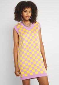 The Ragged Priest - VINYL DRESS - Jumper dress - yellow/lilac - 0