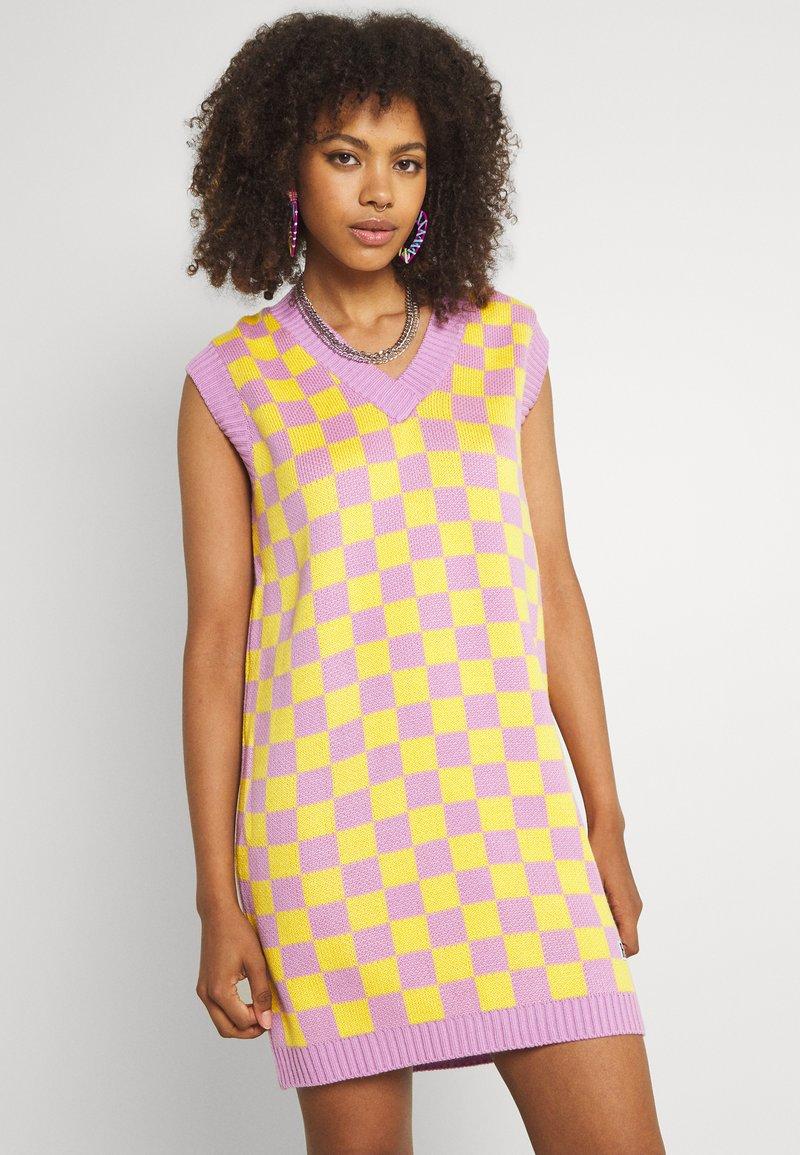 The Ragged Priest - VINYL DRESS - Jumper dress - yellow/lilac