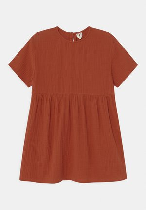 Day dress - rust red