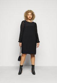 Evans - BLACK SPOT DRESS - Day dress - black - 1