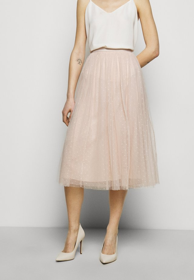 KISSES MIDAXI SKIRT - A-Linien-Rock - pearl rose