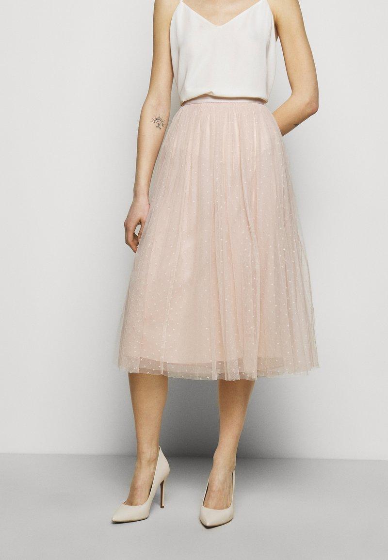 Needle & Thread - KISSES MIDAXI SKIRT - Áčková sukně - pearl rose