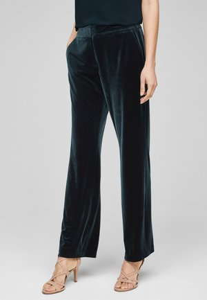 Trousers - dark mystic green