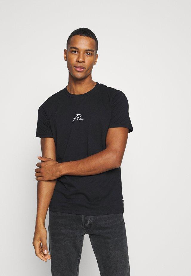 JPRBLA TEE CREW NECK - T-shirt print - black