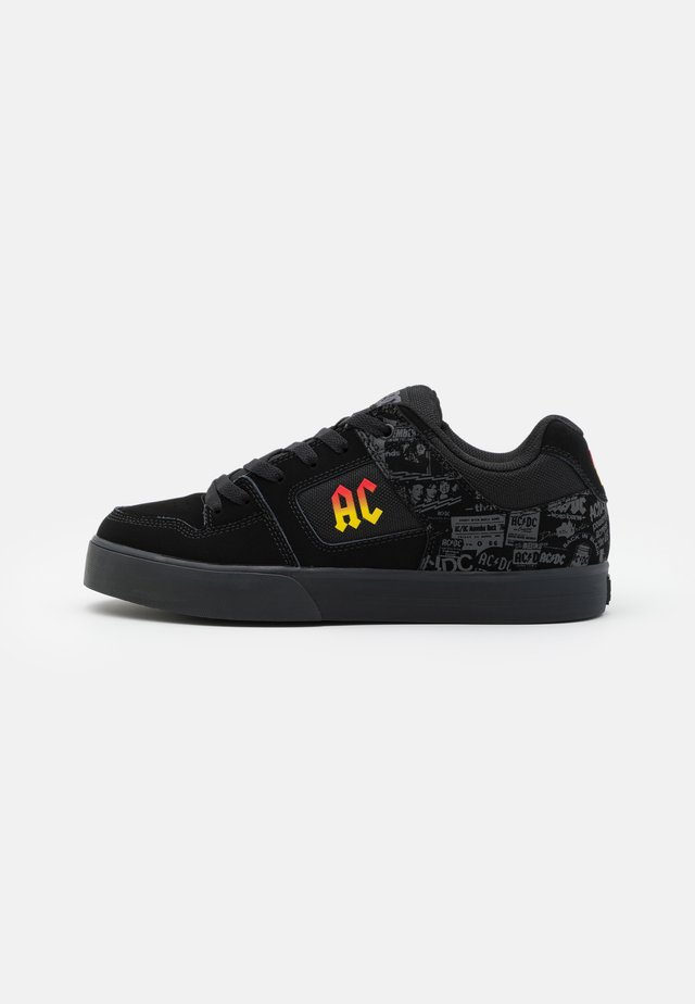 PURE AC/DC - Baskets basses - black/dark grey