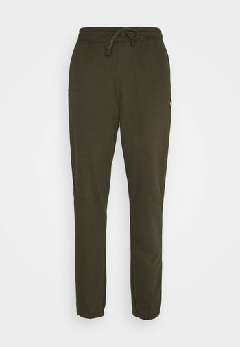 DOUBLE BRUSH TRACK PANT - Tracksuit bottoms - trek green
