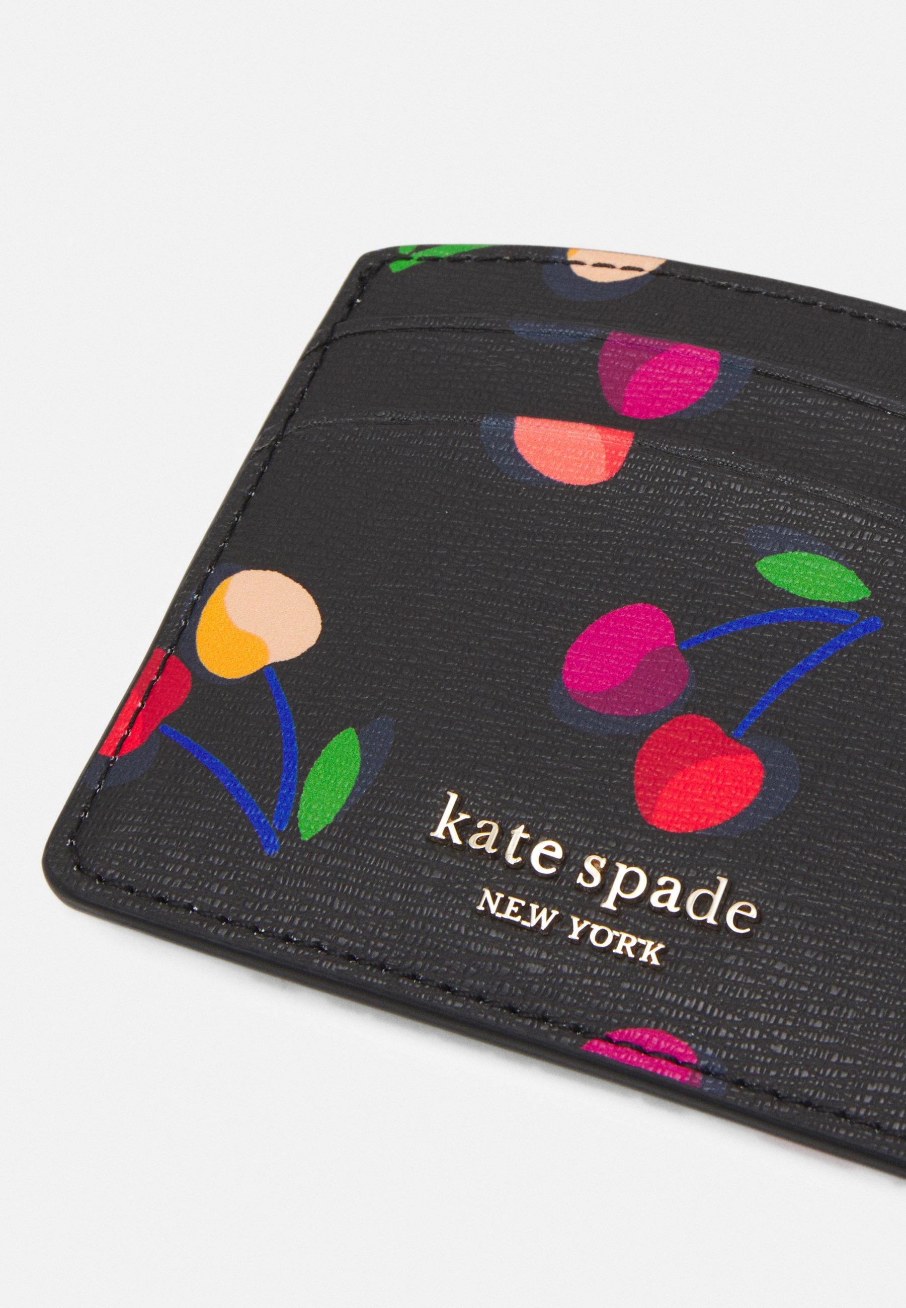 kate spade new york SPENCER CHERRIES CARD HOLDER - Lommebok - black/svart rPqnijgi8JjZ0PJ