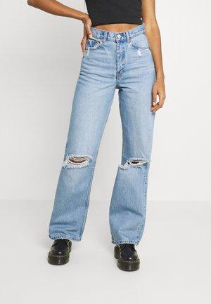 ECHO - Straight leg jeans - blue jay ripped