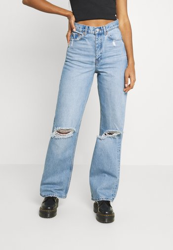 ECHO - Jeans straight leg - blue jay ripped