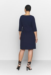 Dorothy Perkins Curve - EMPIRE WAIST BODY CON DRESS - Jersey dress - navy - 2