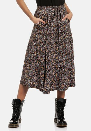 A-line skirt - schwarz allover