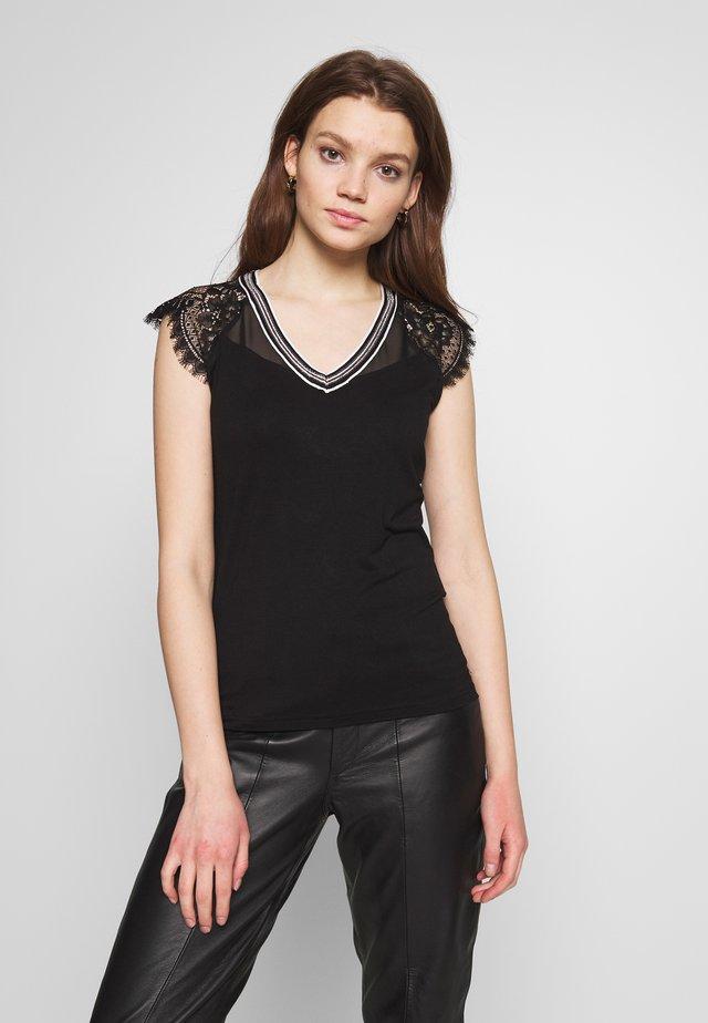 T-shirt con stampa - noir