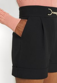 River Island - SNAFFLE TRIM SHORT - Shorts - black - 3