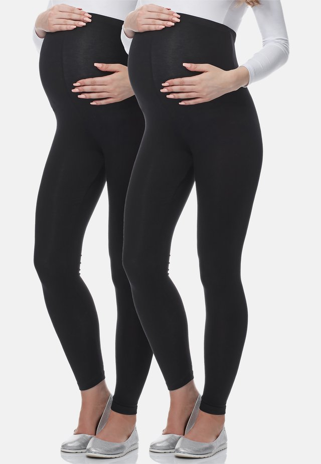 2 PACK - Legging - schwarz/schwarz