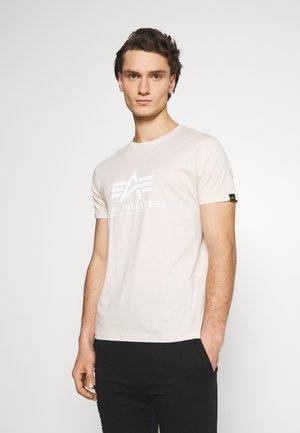 Print T-shirt - jet stream white