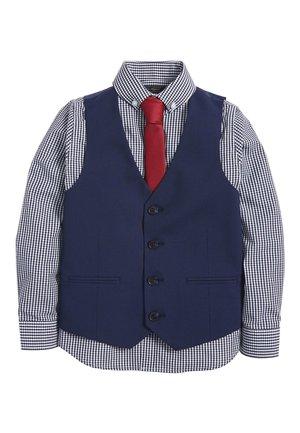 NAVY WAISTCOAT/SHIRT/BOW TIE SET (12MTHS-16YRS) - Waistcoat - blue