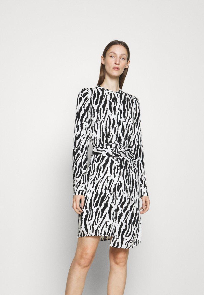 Bruuns Bazaar - BELL BINA DRESS - Day dress - black/white