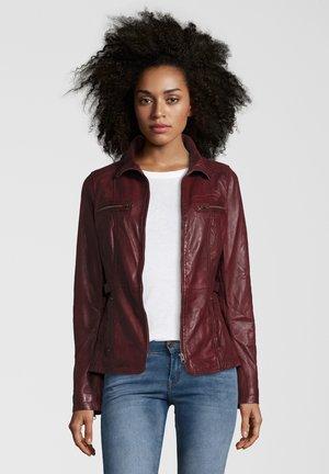 KIMMY - Leather jacket - bordo