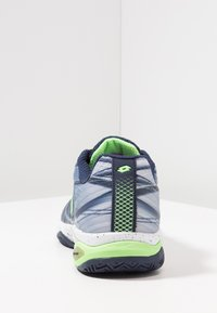 Lotto - MIRAGE 300 CLY - Zapatillas de tenis para tierra batida - navy blue/green neo/silver metal - 3