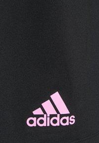adidas Performance - 3 BAR SHORT - Träningsshorts - black/pink - 2