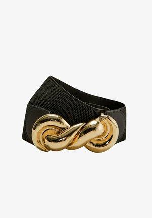 ELASTISCHER GÜRTEL MIT GOLDFARBENER SCHLIESSE 02202853 - Waist belt - black