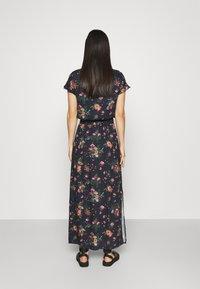 Vila - VIBILLY LONG FLOWER SKIRT - Maxi skirt - navy blazer/red - 2