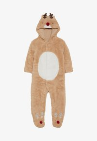 mothercare - BABY FESTIVE FLUFFY REINDEER - Overal - light brown - 2