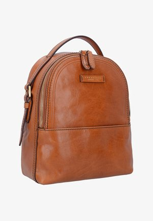THE BRIDGE PEARLDISTRICT CITY RUCKSACK LEDER 32 CM - Rucksack - cognac