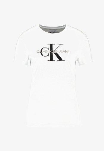 CORE MONOGRAM LOGO - Print T-shirt - bright white