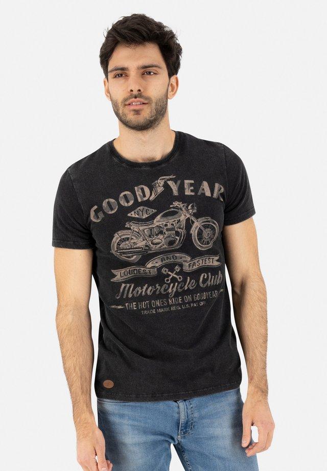 COLLINS - Print T-shirt - black