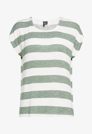 VMWIDE STRIPE TOP  - T-shirt med print - laurel wreath/snow white