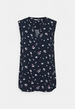 SLEEVELESS - Blouse - navy berry floral design