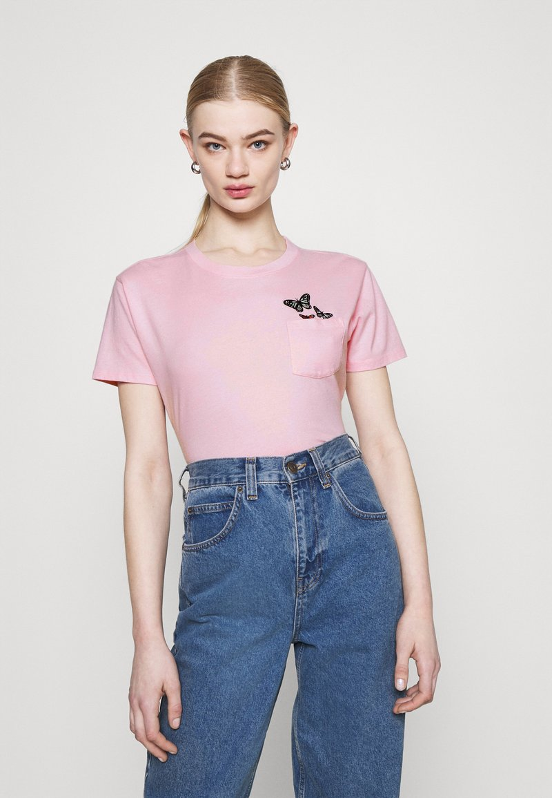 Hollister Co. - TEE - T-shirts med print - pink