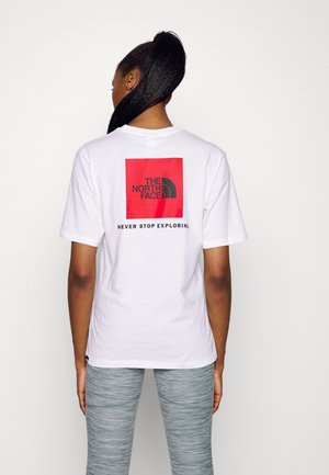 RELAXED TEE - Triko spotiskem - white/red/black