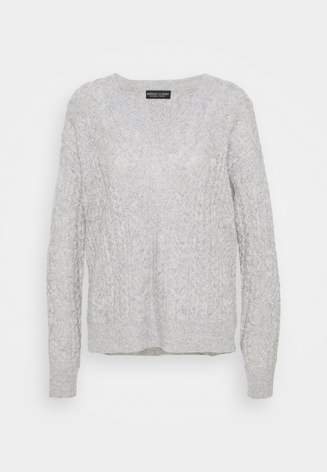 Sweter - silver grey