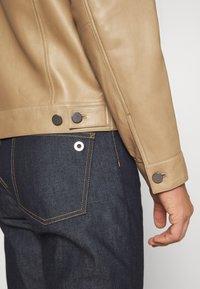 Theory - PATTERSON LEATHER OVERSHIRT - Leather jacket - bark - 4