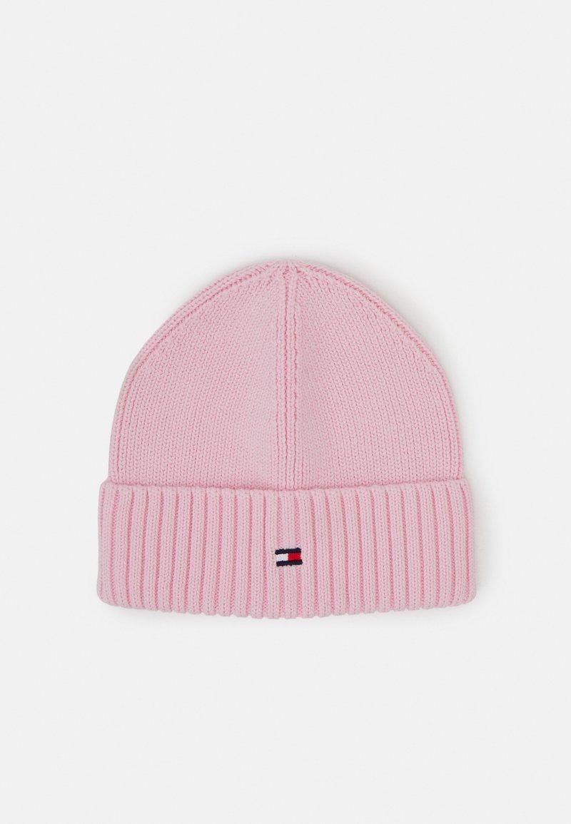 Tommy Hilfiger - FLAG BEANIE - Čepice - pink