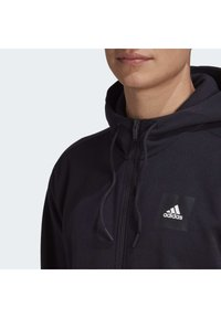 adidas Performance - MUST HAVES FULL-ZIP STADIUM HOODIE - Huvtröja med dragkedja - black - 4