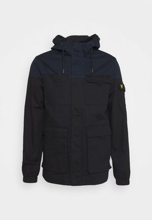CONTRAST YOKE JACKET - Summer jacket - jet black