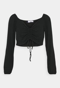 KELLY CROP - Pitkähihainen paita - black