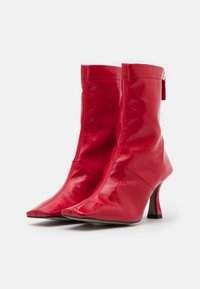 Topshop - VEGAN VIVA FLARED BOOT - Bottines à talons hauts - red - 2