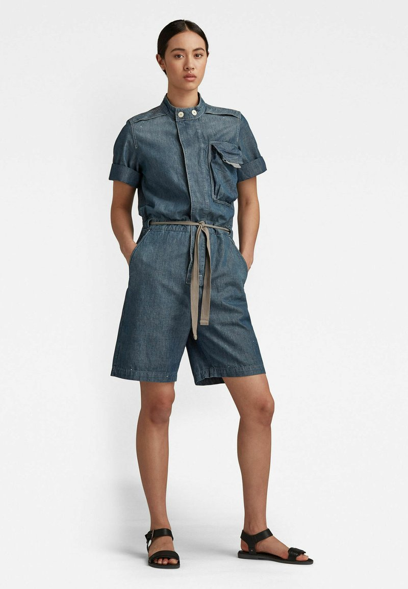 G-Star - WORKWEAR - Jumpsuit - antic faded aegean blue painted