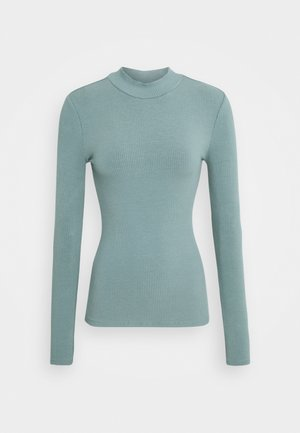 BRANDI HIGH NECK LONG SLEEVE - Long sleeved top - burnt sage