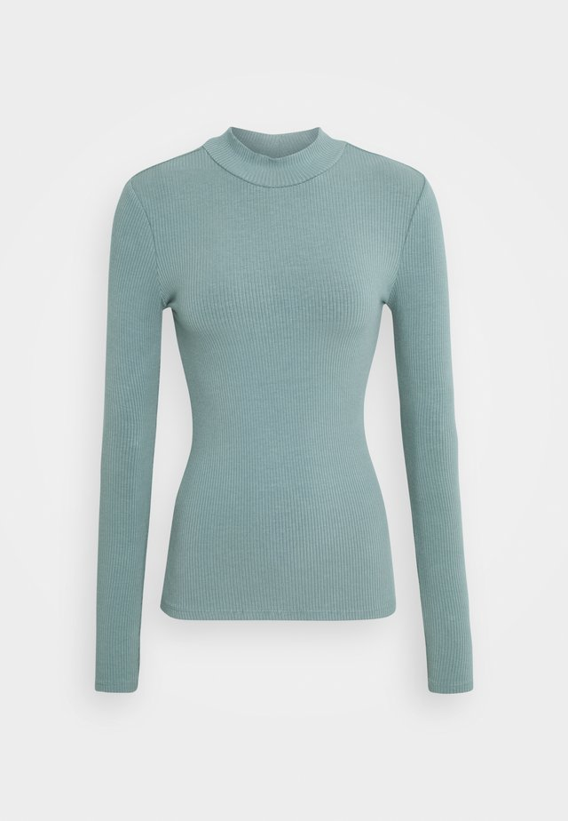BRANDI HIGH NECK LONG SLEEVE - Top s dlouhým rukávem - burnt sage