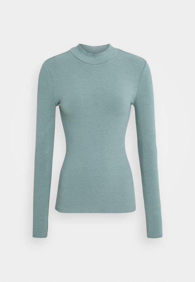 BRANDI HIGH NECK LONG SLEEVE - Long sleeved top - burnt sage