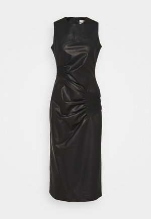 RUCHED DRESS - Shift dress - black