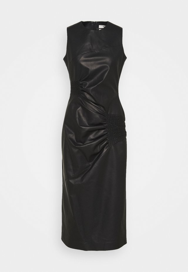 RUCHED DRESS - Vestito lungo - black