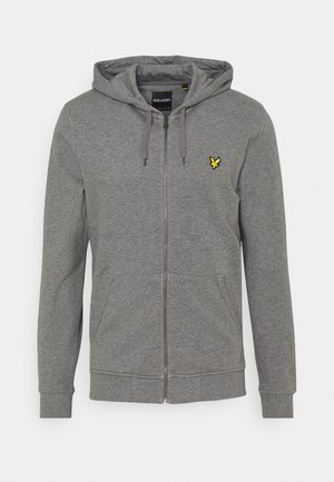 ZIP THROUGH HOODIE - Huvtröja med dragkedja - mid grey marl